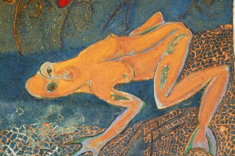 Frosch-Frau