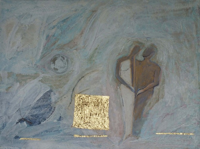 Künstlerischer Gedanke vom Werden des Menschen
